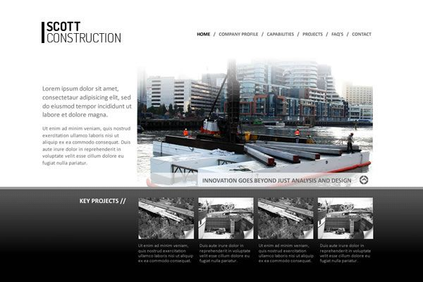 Scott Constructions Website